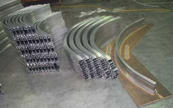 example of curved metal